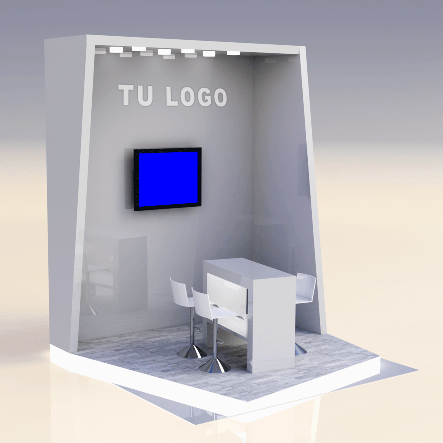 Stand tipo Cabecera 3x3x3.5m