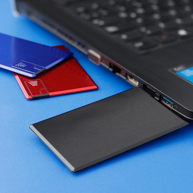 USB Card aluminio 8GB